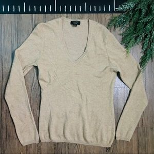 Charter Club Sweaters - Cashmere Charter Club Luxury V Neck Tan Sweater